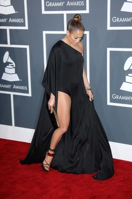 Jennifer Lopez lors de la 55e cérémonie des Grammy Awards à Los Angeles, le 10 février 2013.