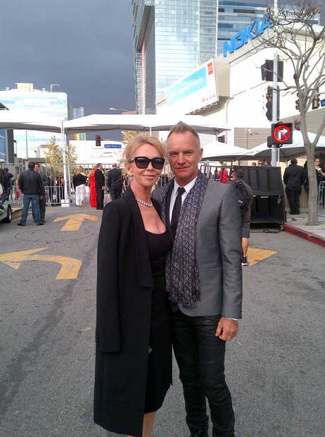 Sting et sa femme Trudy Styler