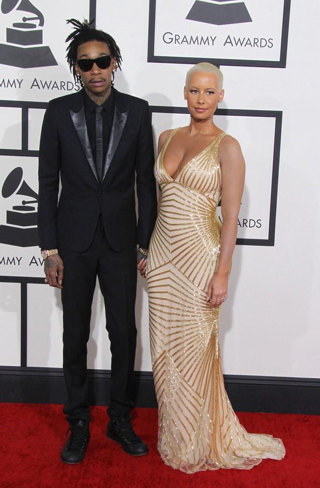 Wiz Khalifa et Amber Rose à la 56e cérémonie des Grammy Awards le 26 janvier 2014