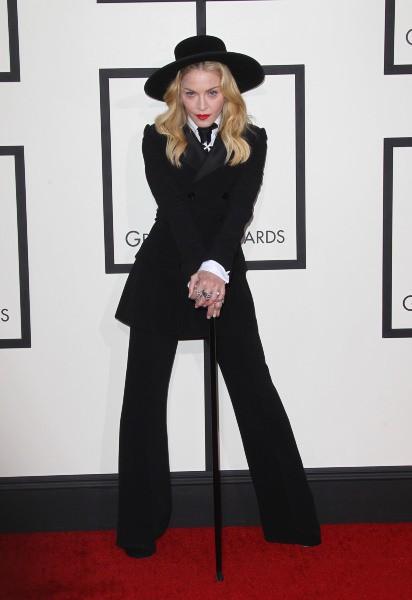 Madonna lors des Grammy Awards à Los Angeles, le 26 janvier 2014.