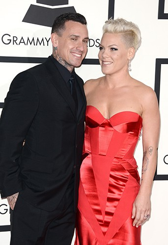 Pink et son mari Carey Hart à Los Angeles le 26 janvier 2014