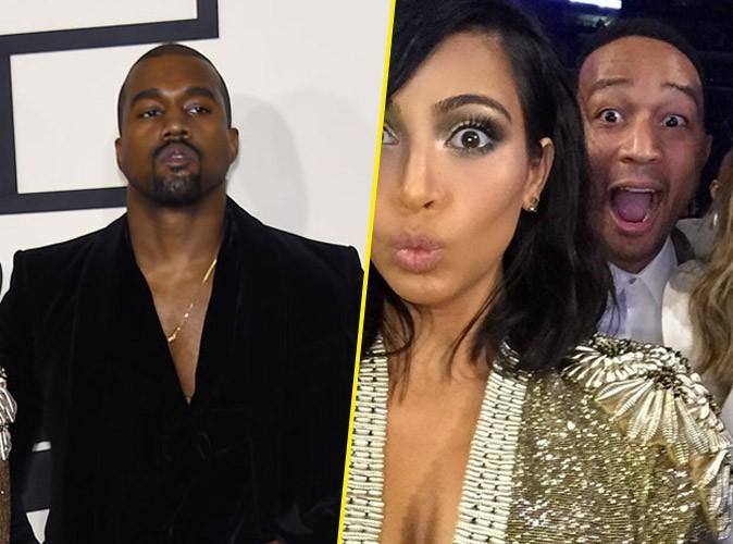 Photos : Grammy Awards 2015 : Kanye West, Kim Kardashian, John Legend… : choqués, ils défendent Beyoncé !