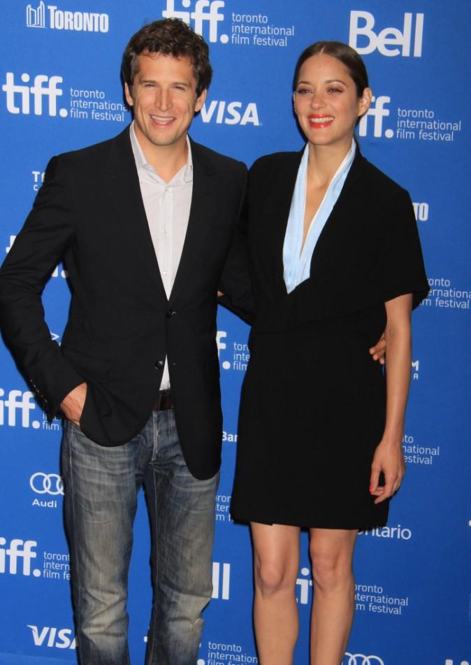 Guillaume Canet et Marion Cotillard en promo lors du Festival International du Film de Toronto, le 10 septembre 2013.