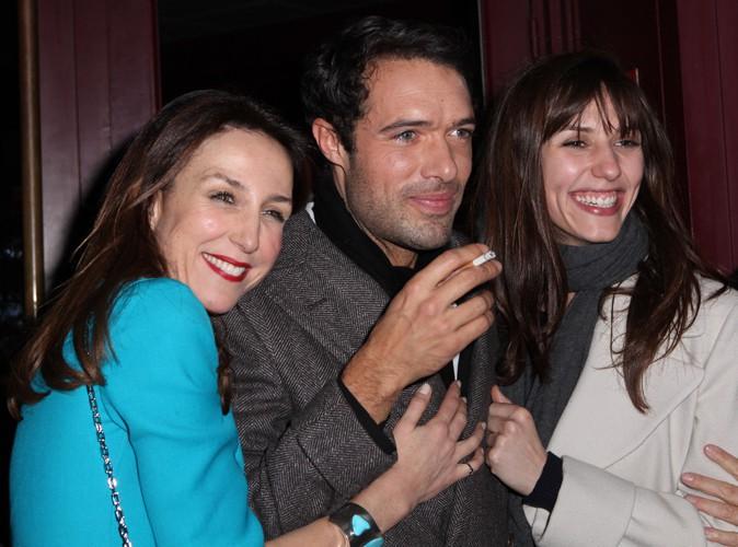 Elsa Zylberstein, Nicolas Bedos et Doria Tillier à Paris le 23 décembre 2013