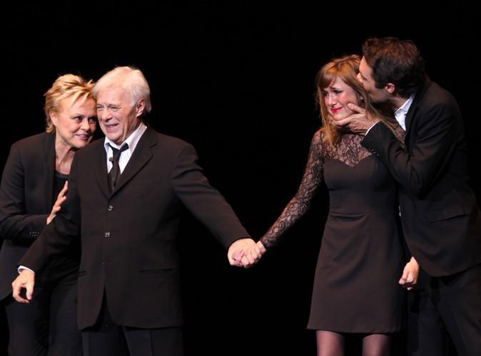 Muriel Robin, Guy Bedos, Victoria Bedos et Nicolas Bedos à Paris le 23 décembre 2013