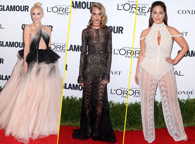 Gwen Stefani, Cara Delevingne, Ashley Graham... Pluies de bombes pour la soirée Glamour
