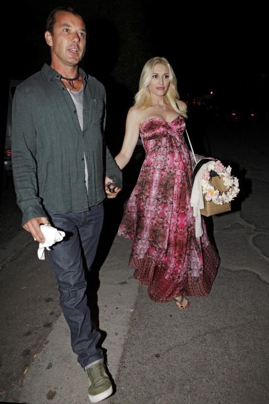 Gavin Rossdale et Gwen Stefani à Los Feliz, le 3 novembre 2013.