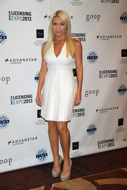 """Tracy Anderson lors de l'Expo """" Licensing 2013"""" à Las Vegas, le 18 juin 2013."""