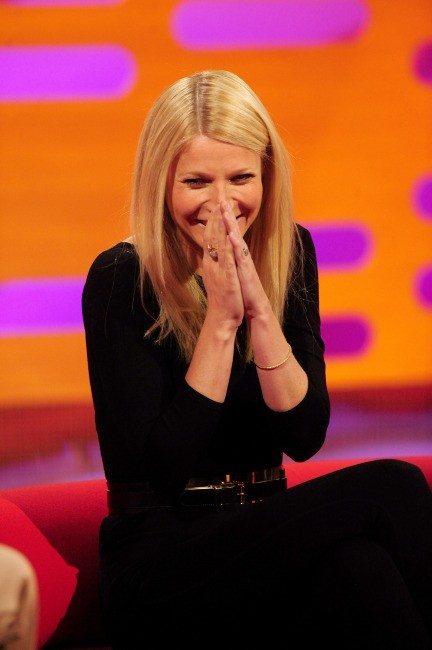 Gwyneth Paltrow sur le plateau du Graham Norton Show à Londres, le 17 avril 2013.
