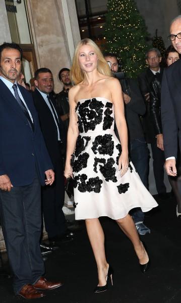 Gwyneth Paltrow lors de l'inauguration des vitrines de Noël du Printemps Haussman à Paris, le 7 novembre 2013.