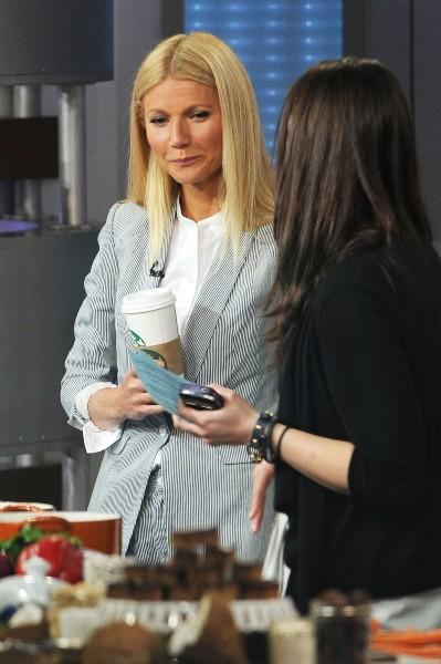 Gwyneth Paltrow sur le plateau de l'émission Good Morning America à New York, le 10 avril 2013.