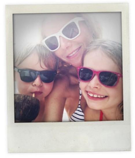 Gwyneth Paltrow en vacances avec ses enfants à Sainte-Luce