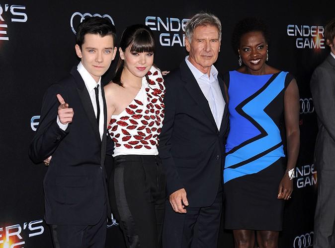 Asa Butterfield, Hailee Steinfeld, Harrison Ford et Viola Davis à Los Angeles le 28 octobre 2013
