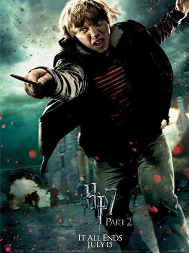 Ron (Rupert Grint) : un des trois héros !