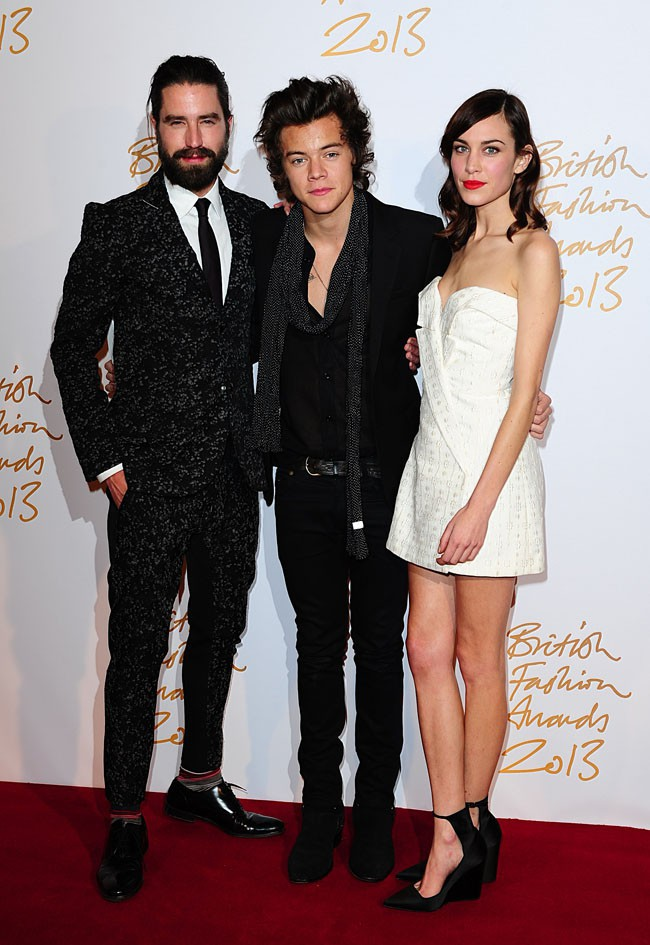 Harry Styles à la cérémonie des British Fashion Awards 2013 organisée à Londres le 2 décembre 2013