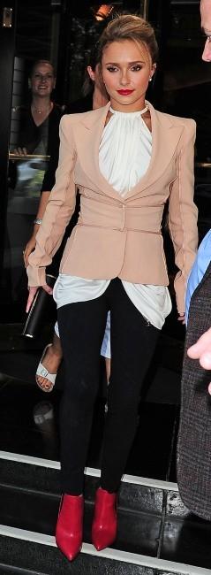 Hayden Panettiere se rendant sur le plateau du Graham Norton Show à Londres, le 6 juin 2013.