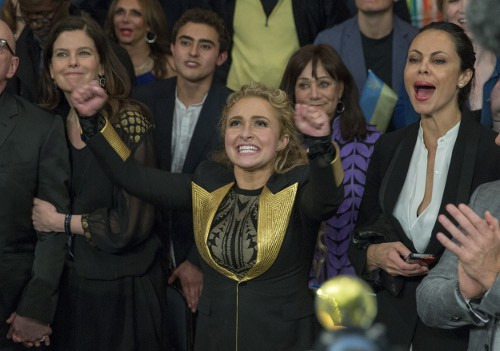 Hayden Panettiere au Madison Square Garden le 25 avril 2015