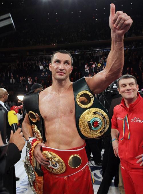 Vladimir Klitschko au Madison Square Garden le 25 avril 2015