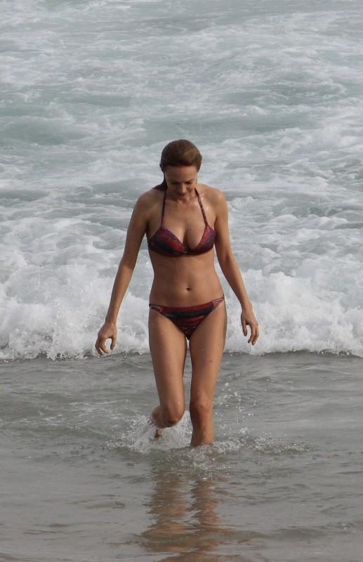 Heather Graham sur la plage d'Ipanema au Brésil, le 28 mai 2013.