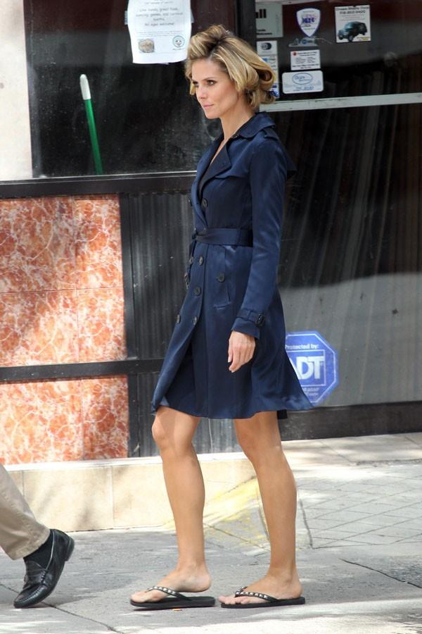 Heidi Klum sur le tournage de la nouvelle pub Schwarzkopf le 24 juin 2012 à New-York !