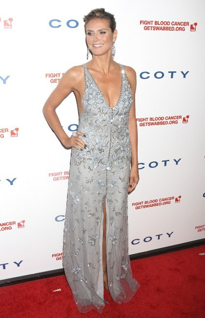 Heidi Klum lors du Gala DKMS à New York, le 26 avril 2012.