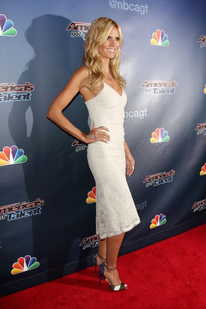 """Heidi Klum était rayonnante sur le red carpet pour assurer la promotion de l'émission """"America's Got Talent"""", le 30 juillet à New York"""