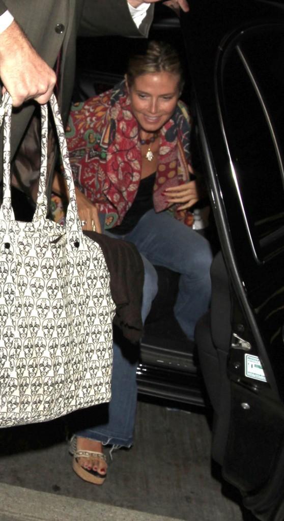 Heidi Klum à l'aéroport de Los Angeles le 2 septembre 2012
