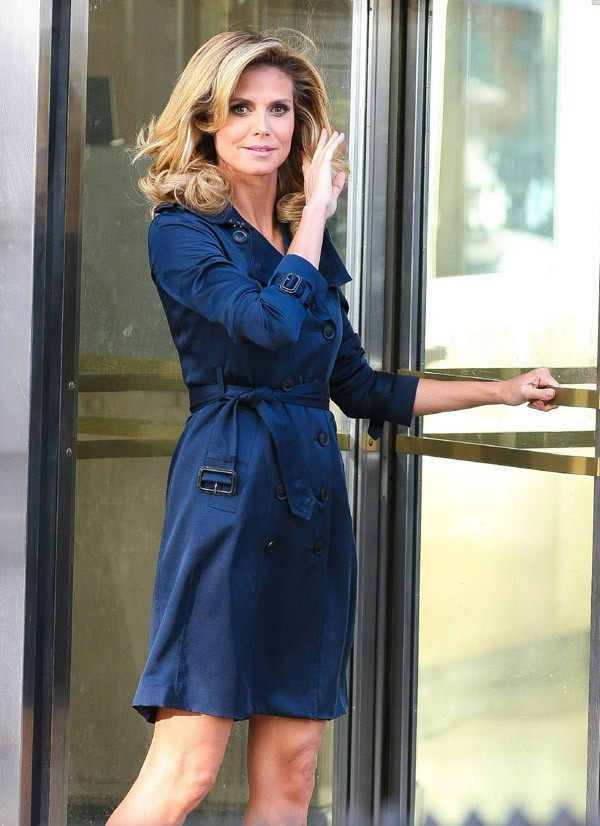 Heidi Klum sur le tournage de la nouvelle pub Schwarzkopf le 23 juin 2012 à New-York !