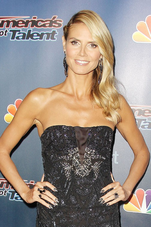 Heidi Klum sur le tapis rouge d'America's Got Talent, à New-York, le 6 août 2014