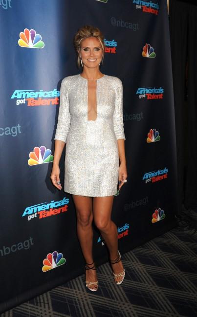 Heidi Klum lors de l'after-party d'America's Got Talent, le 21 août 2013.