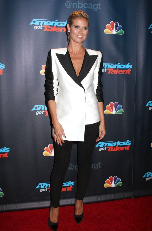 "Heidi Klum lors de la soirée ""America's Got Talent"" à New York, le 7 août 2013."
