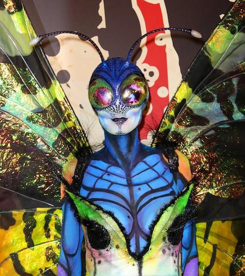 Heidi Klum en papillon pour Halloween 2014
