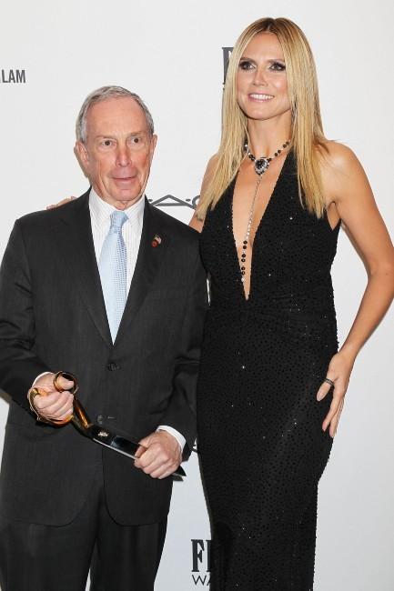 Heidi Klum et Michael Bloomberg, le maire de New York, le 6 février 2013 à New York