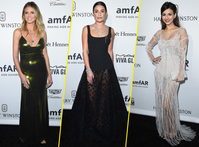Heidi Klum, Lea Michele, Victoria Justice : elles sortent la robe de gala pour l'amfAR !
