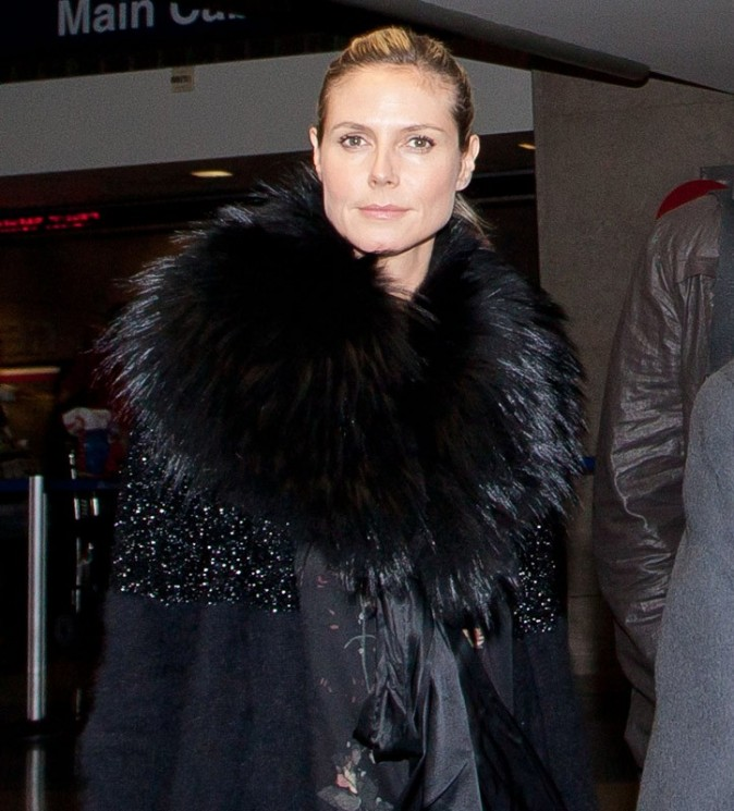 Heidi Klum et son petit-ami Martin Kristen arrivent à New York