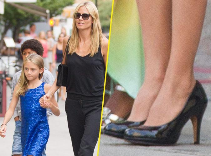 Heidi Klum : sa fille Leni, 10 ans, et déjà des talons hauts !