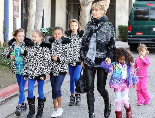 Photos : Heidi Klum : sortie en famille alors que le top a annoncé ne plus vouloir défiler pour de la lingerie !