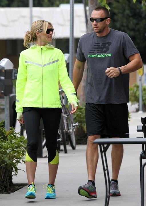 Heidi Klum et Martin Kristen à Brentwood le 16 avril 2013