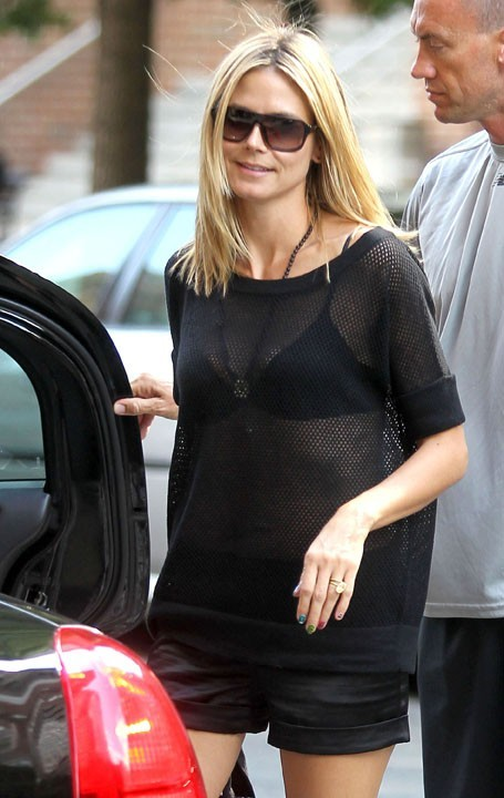 Heidi Klum fait rocker le tee-shirt résille !