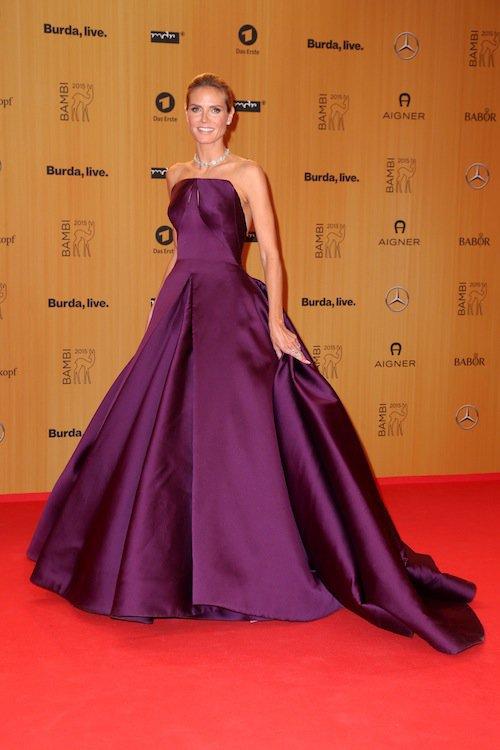 Heidi Klum à la cérémonie des Bambi Awards à Berlin, le 12 novembre 2015