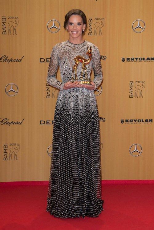 Hilary Swank à la cérémonie des Bambi Awards à Berlin, le 12 novembre 2015