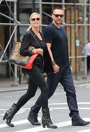 Heidi Klum et Martin Kristen à New-York le 19 août 2013