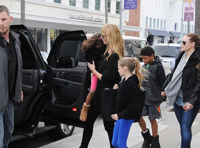 Heidi Klum en famille le 9 février 2014