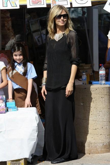 Heidi Klum et ses enfants à Brentwood, le 10 mars 2012.