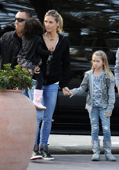 Heidi Klum, Leni et Lou le 28 décembre 2012 à Irvine en Californie