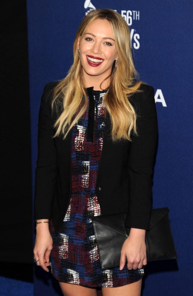 Hilary Duff à une soirée pre-Grammy organisée à West Hollywood le 23 janvier 2014