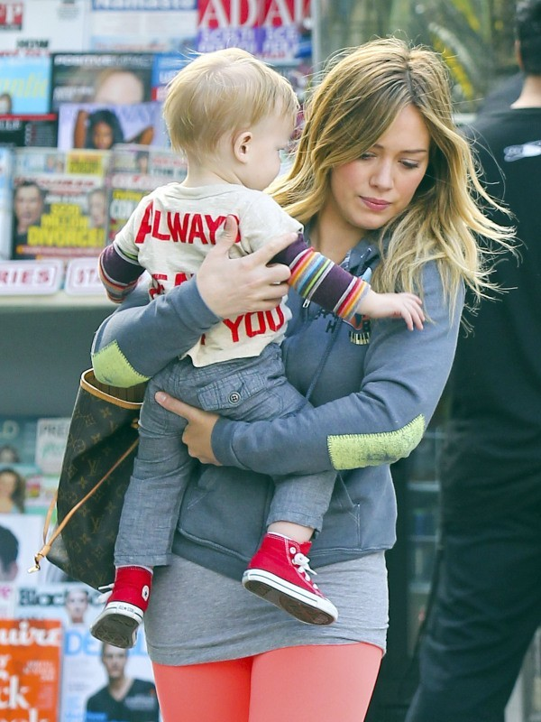 Hilary Duff et son fils Luca