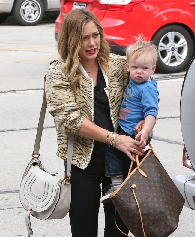 Hilary Duff et Luca le 3 mars 2013 à West Hollywood