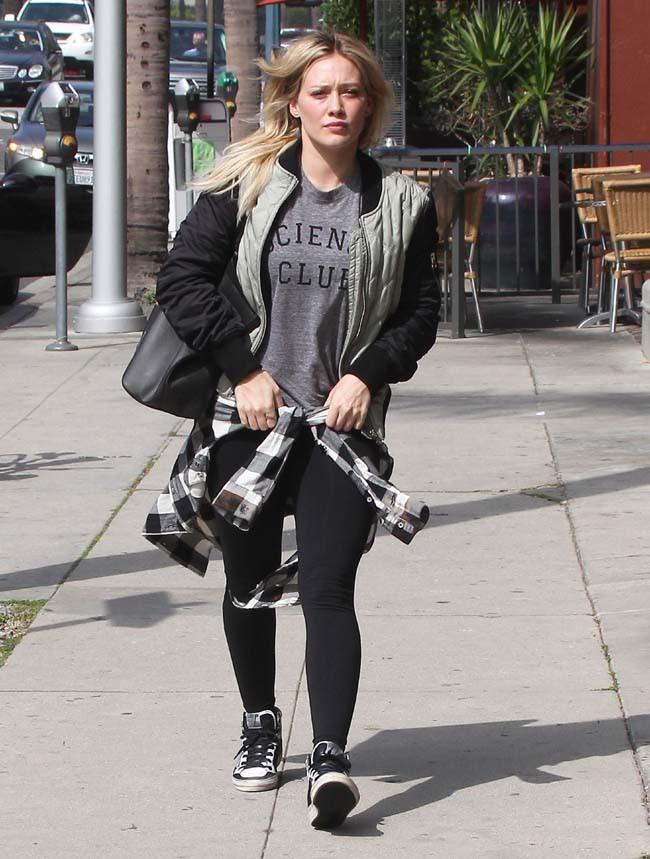 Hilary Duff à Los Angeles le 20 février 2015