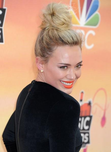 Hilary Duff lors de la soirée iHeartRadio Music Awards à Los Angeles, le 1er mai 2014.